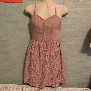 AEO light pink mini dress